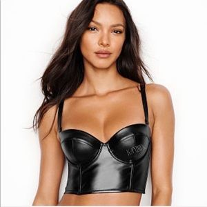 Victoria's Secret Very Sexy Faux-Leather Bustier
